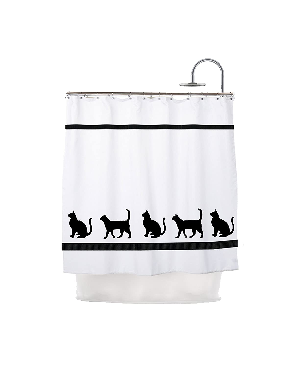 Amazon.com: Cat Kitty Cat Shower Curtain - In Your Choice of Colors ...