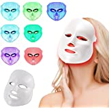 [Best Seller] Buydalybeauty LED Photon Therapy 7 Colors Light Treatment Facial Beauty Skin Care Rejuvenation Phototherapy Mask Beauty Face Care Anti-Aging Real Mask Beauty Mask Self Skin Care Device Daily Skin Care for Home(white)