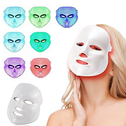 MINCHEDA LED terapia de fotones 7 colores tratamiento de la luz facial belleza cuidado de la
