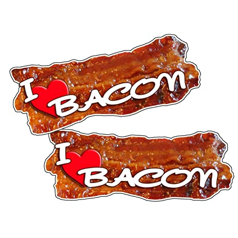 Attention i love bacon sticker vinyl decal