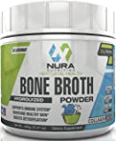 Bone Broth Protein Powder, Paleo and Keto Friendly, Hydrolyzed, 20 Servings - Natural NON GMO Grass Fed Beef - Gluten Free - Great For Collagen, Weight Loss, Digestive System, Younger Hair & Skin