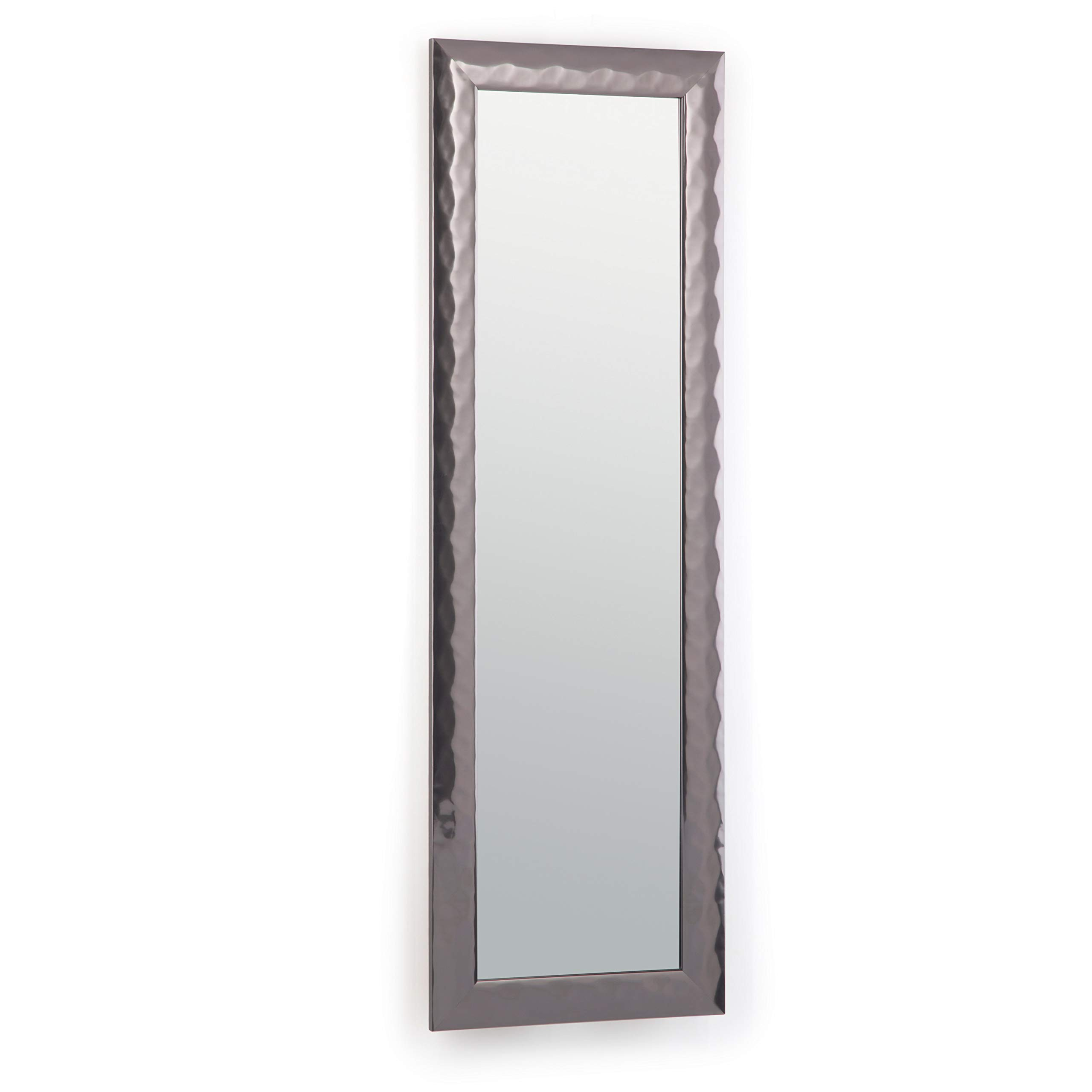 Simpli Home AXCMATH-5317 Athena 53 inch x 17 inch Rectangular Transitional Large Décor Mirror in Pewter