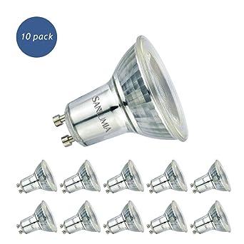 Sanlumia Bombillas LED GU10, 6W=75W Halógena, 500Lm, Blanco Neutro (4000K