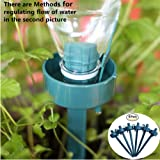 6pcs Plant Automatic Dripping Watering Device with Adjustable Flow Rate for Vacation Plant Watering