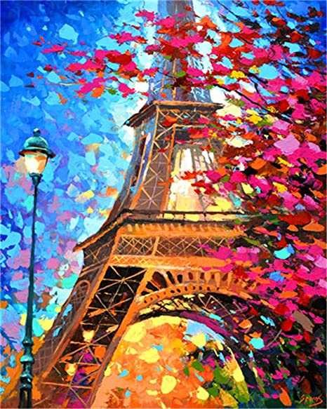 Bouquet DIY Oil Painting Paint by Numbers Kits for Adult Paint Color According to The Numbers on The Canvas 16x20 inch Drawing with Brushes Christmas Decor Without Frame