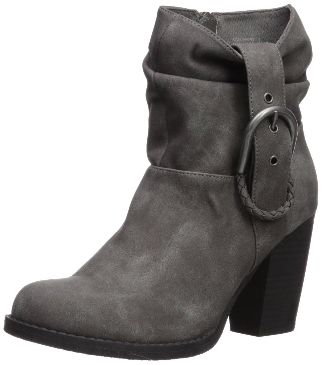Sugar Women's SGR-Prime Ankle Boot, Charcoal Nubuck, 8 Medium US