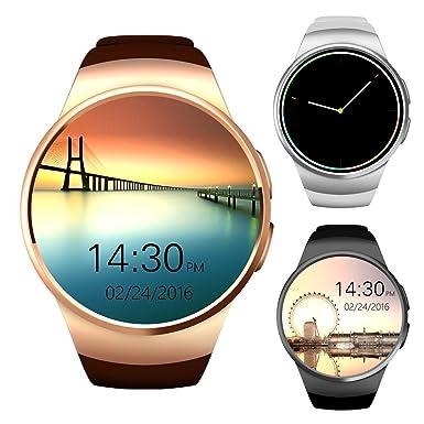 Bluetooth Smart reloj teléfono, Ronda de 1,3 pulgadas IPS pantalla táctil resistente al
