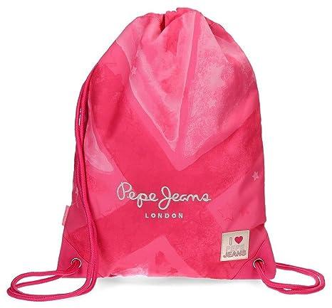 d6b84aac48 Sacca zaino con tasca Pepe Jeans Clea Rosa: Amazon.it: Valigeria
