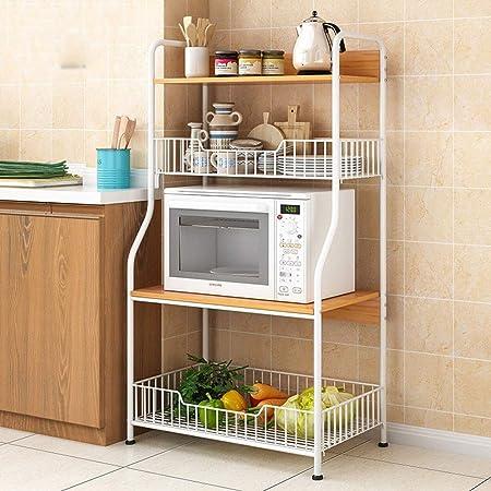 Estanterías para horno microondas Utilidad rack de almacenamiento ...