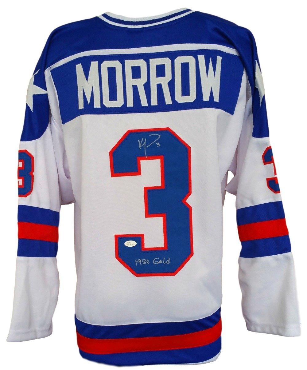 Ken Morrow 1980 USA Hockey Signed Custom Miracle On Ice...