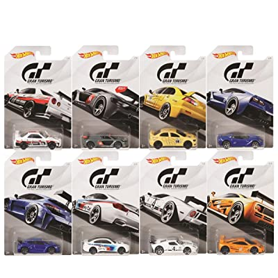 Hot Wheels 2020 Gran Turismo The Real Driving Simulator Bundle Set of 8 Die-Cast Cars, 1:64 Scale: Toys & Games