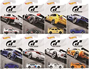 Hot Wheels 2018 Gran Turismo The Real Driving Simulator Bundle Set of 8 Die-Cast Cars, 1:64 Scale