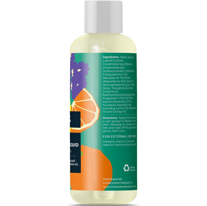 Plato de jabón natural líquido suave mano lavar platos de jabón para grasa cocina Sulfato libre antibacteriano no tóxico hipoalergénico limpiador respetuoso ...