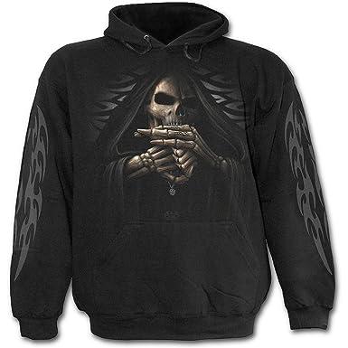 Espiral - para hombre - Bone Finger - Sudadera con capucha negro - negro -: Amazon.es: Ropa y accesorios