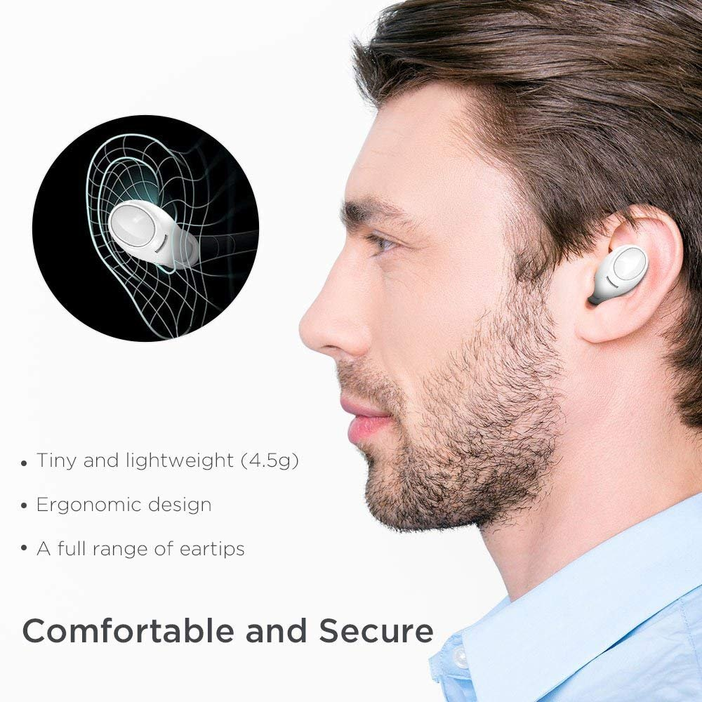 Wireless Earbuds, ESR True Wireless Bluetooth Earphones with Dynamic Graphene Drivers and Portable Charging Case, Bluetooth 4.2 for iPhone, Samsung,and Android Phones by ESR (Image #3)