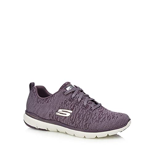 84b131eac368 Skechers Womens Plum Knitted  Flex Appeal 3.0  Trainers  Amazon.co ...