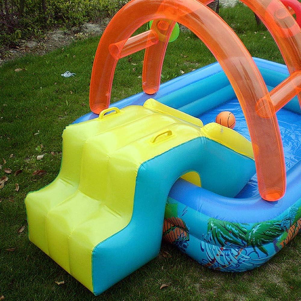piscina de aerosol para patio exterior para ni/ños LOY Waves Parque acu/ático con tobog/án de agua tobog/án de baloncesto