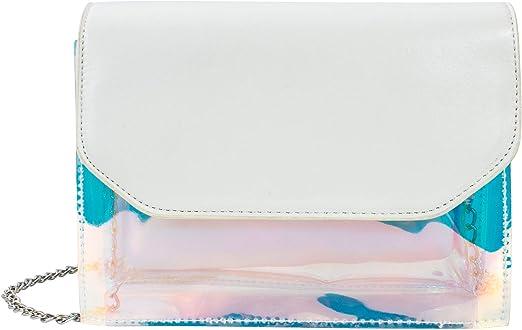 WOMEN PU TRANSPARENT PVC CLEAR BAG FAUX LEATHER CHECK PRINT SATCHEL TOTE HANDBAG