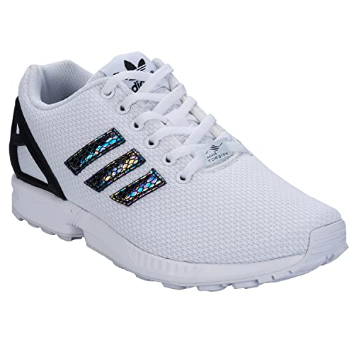 check out 3a8ff e6110 adidas Originals Boy s Zx Flux Metallic Snake J Ftwwht and Cblack Sports  Shoes - 3 UK India (35.50 EU)  Buy Online at Low Prices in India - Amazon.in
