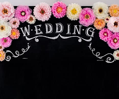 Amazon.com : Wedding Decoration Photography Backdrop Digital ...