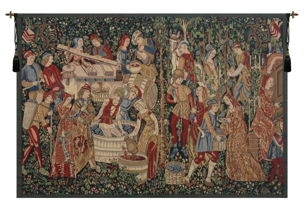 Vendages (Red) Belgian Tapestry by Charlotte Home Furnishings Inc.