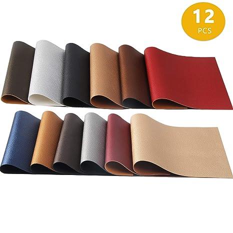 12 colores perlado piel sintética tela brillante lona parte ...