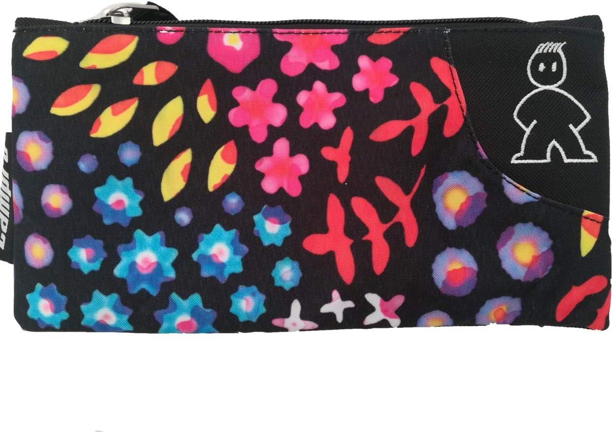 Estuche Triple 3 Bolsillos Cremalleras Compartimentos Grande Tres Original Portatodo Flores Floral Vuelta al cole Amplio Gran Capacidad: Amazon.es: Oficina y papelería
