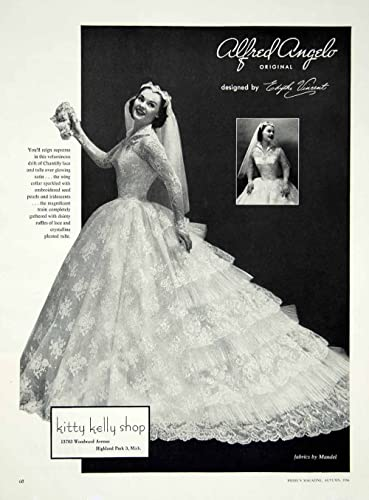 Amazon 1956 Ad Alfred Angelo Vintage Wedding Dress Edythe