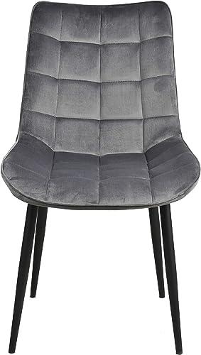 Dining Room Chair Set of 2 Velvet Upholstered Side Chairs