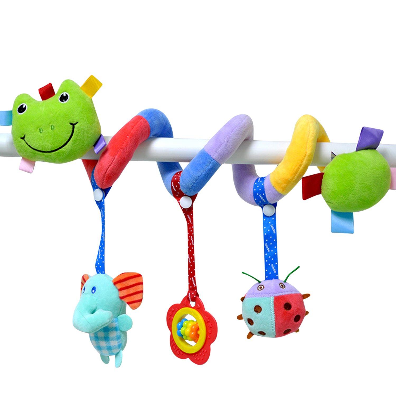 De feuilles Kinderwagenkette Safari Mobile-Kette mit niedlichen Figuren Aufh/ängen Kinderwagen Baby-Autositz-Spielzeug Frog