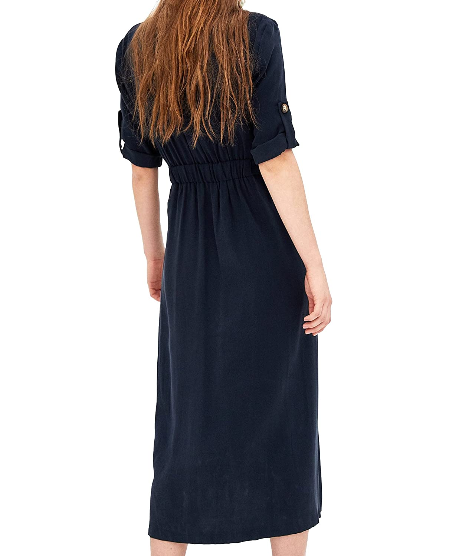 3fa238c7b11 Zara Women Midi Dress With Buttons 7385 109 (X-Small)  Amazon.ca  Clothing    Accessories