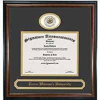 Celebration Frames Louisiana State University 8/½ x 11 Mahogany Finish Infinity Diploma Frame with Tassel Box