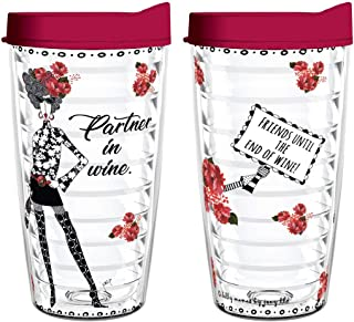product image for Smile Drinkware USA- Dolly Mama-Dolly Mamas Partner In Wine.Friends Until The End Of Wine 16oz
