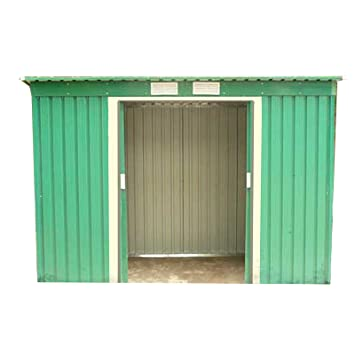 Superior Dirty Pro Tools METAL GARDEN SHED 8 X 4 With Base