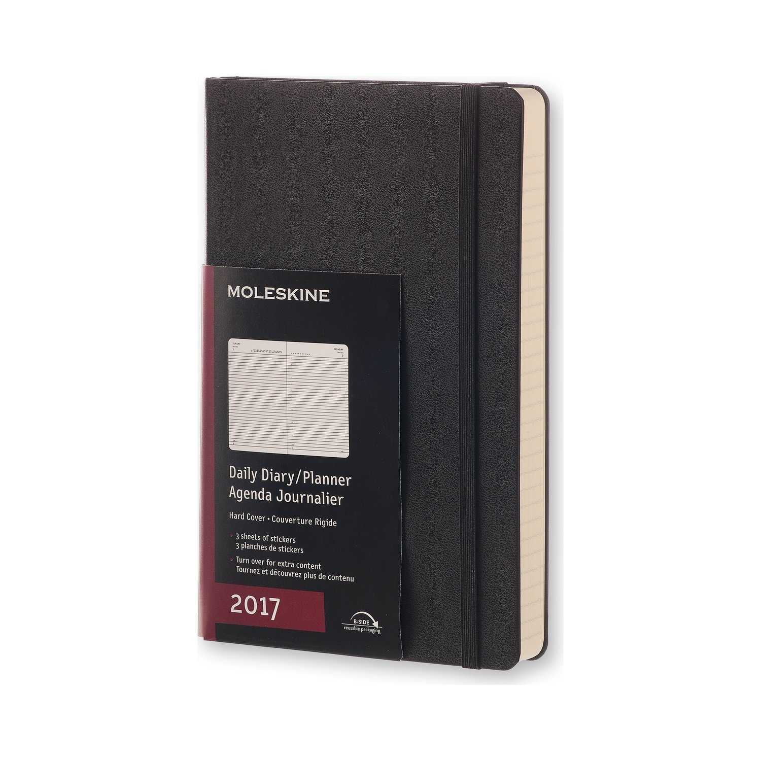 Moleskine 2017 Daily Planner, 12M, Large, Black, Hard Cover (5 x ...