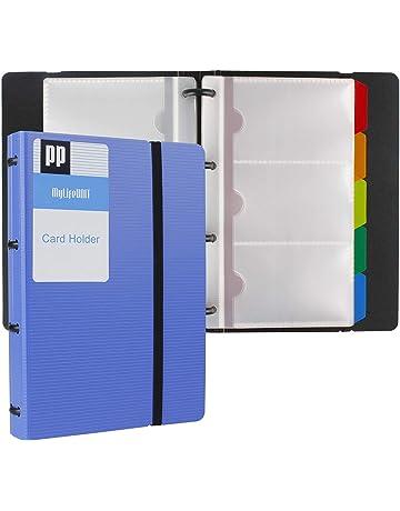 MyLifeUNIT - Libro para tarjetas de visita, organizador de tarjetas con cinco pestañas de índice
