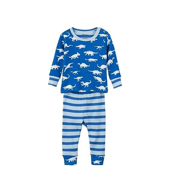 Hatley Mini Organic Cotton Long Sleeve Pyjama Set, Conjuntos de Pijama para Bebés, Azul