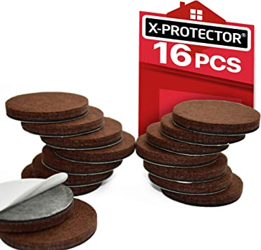 72 X 15mm Round White Felt Thin Pads Anti-skid Floor Protectors For Furniture