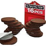 "X-PROTECTOR Premium 16 Thick 1/4"" Heavy Duty Felt Furniture Pads 2""! Felt Pads for Heavy Furniture Feet – Best Felts…"