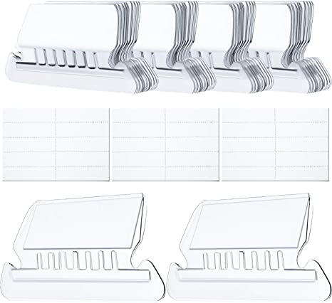 Plastic File Tabs for Hanging Folders Clear to Read 60 Sets, Flat Design Multicolor Hanging Folder Tabs and Inserts for Organize and Distinguish Hanging Files 2