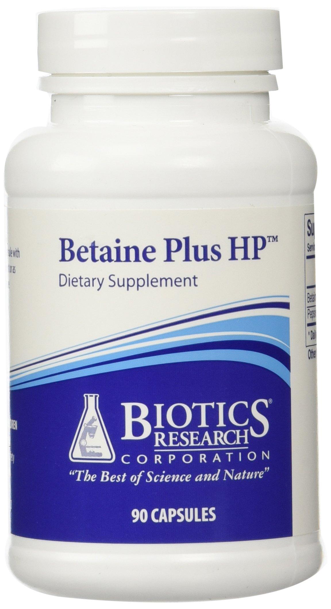 Biotics Research Betaine Plus HP -- 90 Capsules