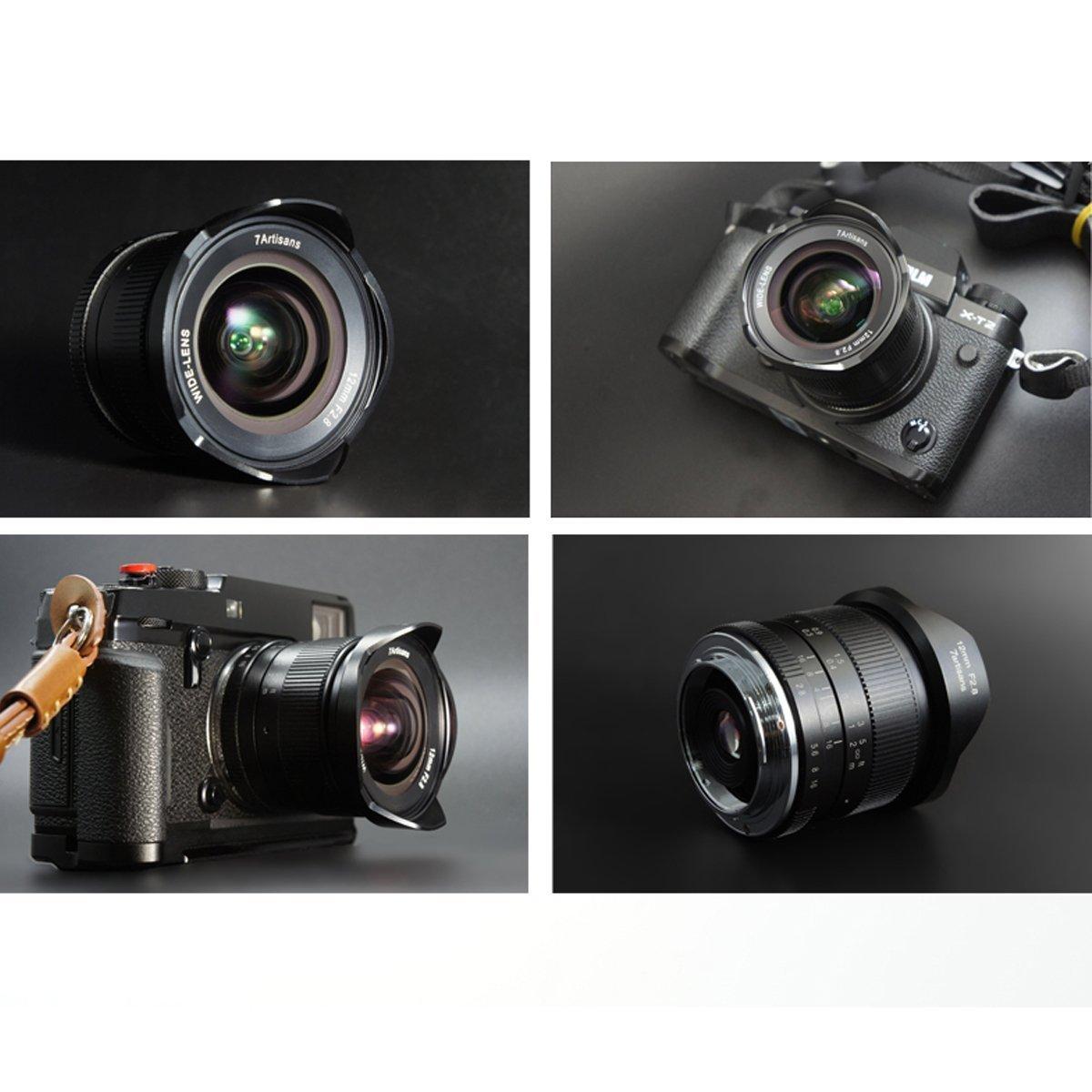 7artans Kit de Limpieza Manual Focus Prime Fixed Lens y TUYUNG Lente de Gran Angular de 12 mm F2.8 para c/ámara Fujifilm X sin Espejo