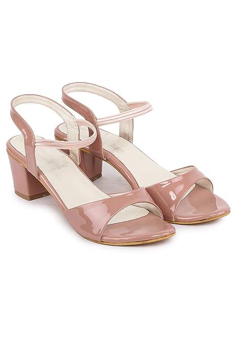 peach colour sandals