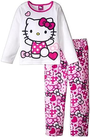 8252dd696 SANRIO Girls' Hello Kitty 2 Piece Fleece Set, Multicolor 4T Toddler