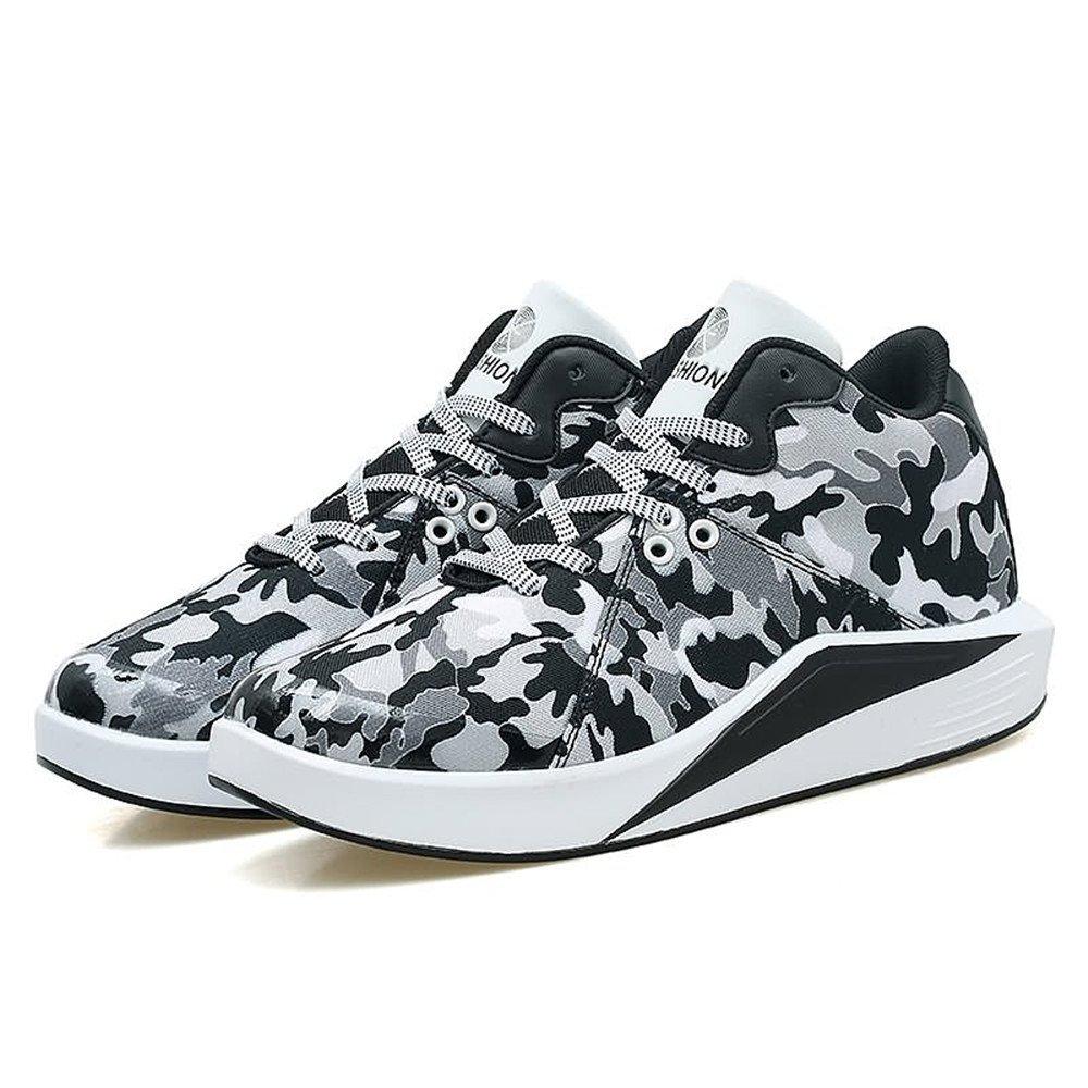 Jiuyue schuhe Frühjahr/Sommer Ferse 2018 Herrenmode Sneaker Flache Ferse Frühjahr/Sommer Canvas Schnürung Bequeme Entspannen Schuhe (Farbe : schwarz ROT, Größe : 42 EU) schwarz Weiß 601068
