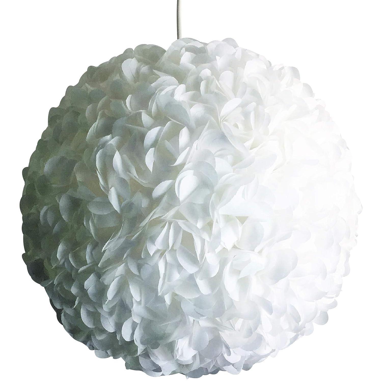 Little White Fluffy, weiße Lampe Lampenschirm Hängeleuchte Hängelampe Papierlampe Reispapierlampe Designerlampe Wohnzimmerlampe Schlafzimmerlampe Deckenlampe