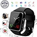 Smartwatch Android, Sport Smart Watch Donna Uomo Orologio Smartwatch Android con SIM Card Slot Fotocamera Orologio Intelligente Phone Watch Sport Tracker di Fitness per Samsung Huawei Bambini