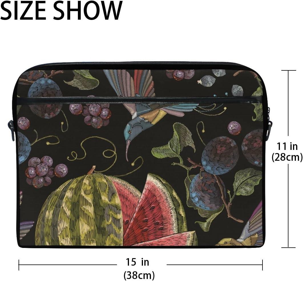 AHOMY Hummingbird Grapes Watermelon Messenger Bag Small Travel School Sling Bag Crossbody Bag