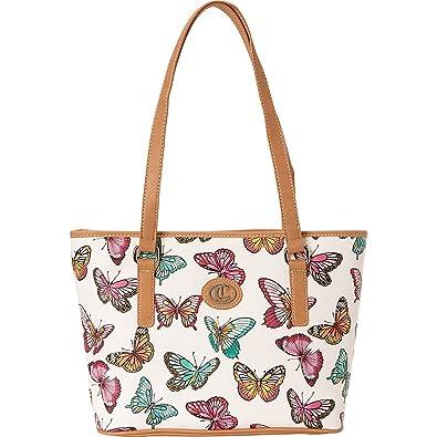 cf8d6e8230 Amazon.com  Aurielle-Carryland Butterfly Print Tote (Multi)  Shoes