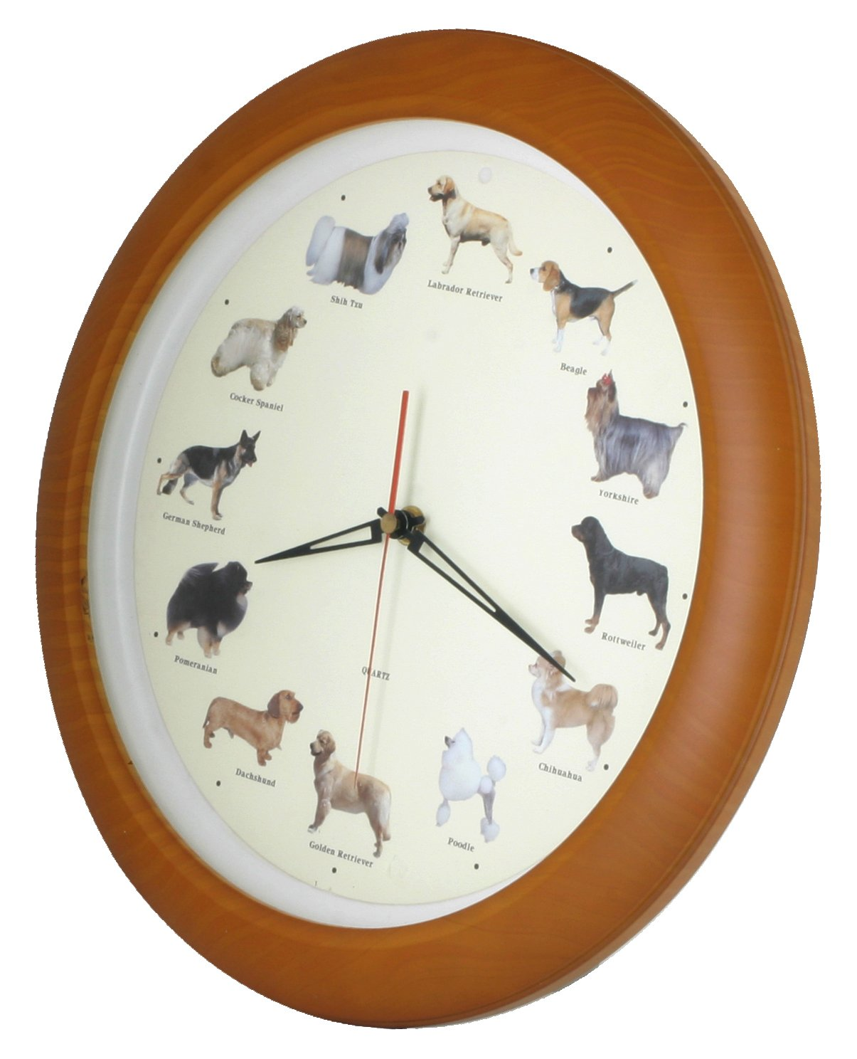 ISHIWA 14-inch Unique Animals Family Quality Wall Clock Silent Non-ticking Movement, Home Decor (W82057 Dogs) by ISHIWA (Image #2)